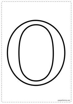 O Abecedario letras grandes imprimir mayúsculas