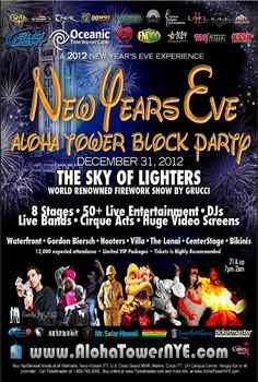 New Years Eve Aloha Tower Block Party!!!!