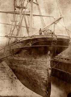 H. Henderson at Cutty Sark stern © Cutty Sark Trust