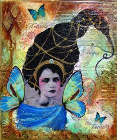 Love this mixed media collage.