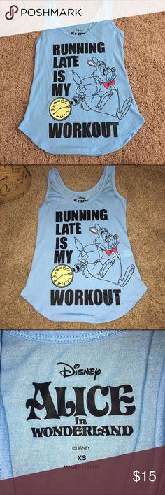 Alice in wonderland XS workout shirt Alice in wonderland XS workout shirt Disney Tops Tank Tops