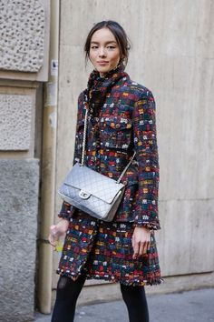 Fei Fei looking totally brilliant. again. #offduty in Paris. #FeiFeiSun #Chanel