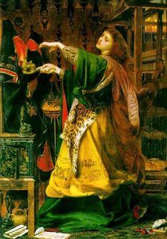 The fairy Morgana, oil F. Sandys (1864).