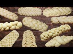 10 ways to weave bread or rolls. Braided Bread, Bread Bun, Bread Plait, Croissant Recipe, Bread Shaping, Baking Basics, Best Bread Recipe, Pastry Art, Savoury Baking