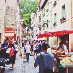 Zaterdag markt @Ceret // Frankrijk // hannadale - @hannadale // 02-08-2014