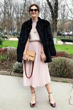 Vic Ceridono Saia e blusa Anine Bing Bolsa Chanel  Sapato Valentino  PFW/2017