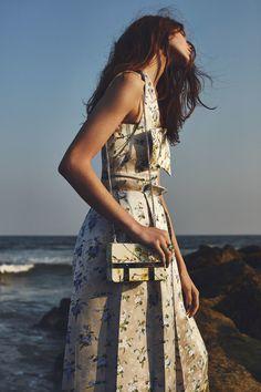 Petal Pushers - Fall's Best Floral Handbags - Sofia Tesmenitskaya by Emma Tempest for W Magazine November 2015 - Alexander McQueen