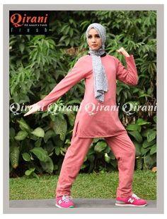 Beli Baju Sport Wanita Qirani Fresh QDF-07 SALEM  dari Aprilia Wati agenbajumuslim - Sidoarjo hanya di Bukalapak