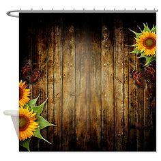 CafePress Butterflies And Sunflowers Shower Curtain
