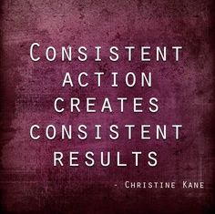 The importance of consistency...