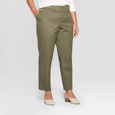 f9ecfb75b210b Women s Plus Size Chino Pants - Ava   Viv Olive (Green)