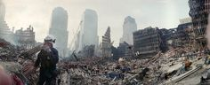 Rescue workers continue their efforts Sept. 24, 2001, at the site of the World Trade Center attack.