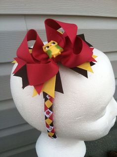 M2MG Fall for Autumn Woven Headband w/detachable Hair Bow by M2MHeaven