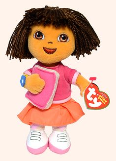 Dora (school), Ty Beanie Baby girl, reference information and photograph. Rare Beanie Babies, Ty Beanie Boos, Childhood, School, Babys, Hate, Baby Boy Accessories, Baby Girls, Babies