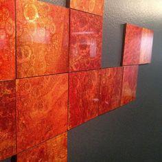 We designed the first easy install epoxy wall tiles. Available to the public soon! #tile #tiles #design #designlife #walldecor #productdesign #smallbusiness #entrepreneur #color #diy #doityourself #homedecor #decor #wallart #tileaddiction #interiordesign #backsplash #etsy #etsyshop #handmade #handcrafted #unique #texture #abstract #hgtv #hgtvdesign #tiletuesday #idcdesigners #modern #modernart by hue_squared