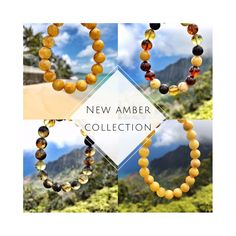 Keep summer memories alive with the new Baltic Amber collection!  Unique amber bracelets for her and for him. Round, matted, multicolor, butterscotch- choose your type of unique piece of amber 🌿