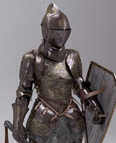 f Fighter PLate Armor Helm Shield Mace Eoin Cannon's Sketchbook Caballería Medieval, Medieval Combat, Medieval Knight, Medieval Fantasy, Armadura Medieval, Female Armor, Female Knight, Arm Armor, Body Armor