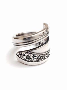 Fresh Silver Spoon Ring circa Silverware Jewelry