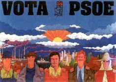 Cartel del Partido Socialista, obra de José Ramón Sánchez, en la campaña electoral de las elecciones de 1977