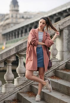 How to Wear a Denim Skirt: 13 Outfit Ideas to Copy Now | StyleCaster