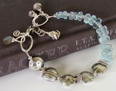 Aquamarine Bracelet  March Birthstone  Faceted by jQjewelrydesigns, $86.00