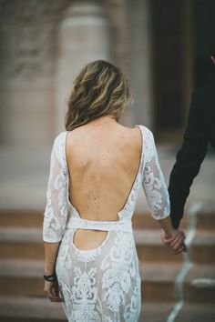 Sultry backless dress: http://www.stylemepretty.com/2014/08/15/modern-san-diego-engagement-wiup/   Photography: Megan and Brent with Studio Castillero - http://studiocastillero.com/
