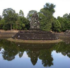 Neak Pean in Angkor Siem Reap Cambodia  Date: End of 12th century, Reign: Jayavarman VII, Religion: Buddhist  Read more: http://www.globaltravelmate.com/asia/cambodia/angkor/angkor-temples/564-siem-reap-neak-pean.html#ixzz2XbMWr5X0