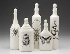 Unique bottles by Laura Zindel.