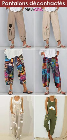 Vintage Plus Size Outfit. & Dress Outfits for Textiles, Casual Pants, Dress Casual, Chic Outfits, Latest Fashion Trends, Plus Size Outfits, Parachute Pants, Harem Pants, Capri Pants