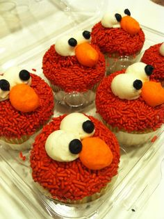 of the elmo cupcakes for the tower more birthday parties elmo cake ...
