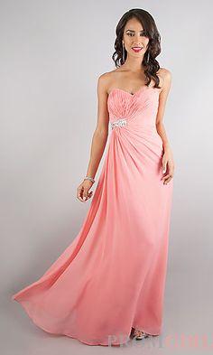 Strapless Sweetheart Floor Length Dress at PromGirl.com #fashion #prom #dresses