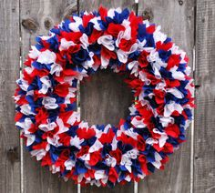 4th of July Wreath Patriotic Wreath Fourth of July by FairyMojo