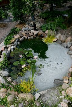 Garden View Pond Area one day in my yard like grandma :) a beautiful place to be home Garden Pond Design, Bog Garden, Landscape Design, Backyard Water Feature, Ponds Backyard, Backyard Waterfalls, Garden Ponds, Small Water Gardens, Natural Pond