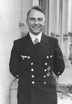 "Günther Prien (1908-1941), one of the three top German U-boat ""aces"" in World War II, having sunk the most tonnage of allied shipping.  His boat, U-47 went missing with all hands on March 7, 1941."