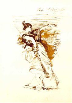 John Singer Sargent - Sketch of a Dancer, El Jaleo