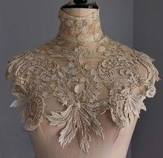 Antique/vintage Edwardian guipure lace collar / dress yoke | Antiques, Fabric/Textiles, Lace/ Crochet/ Doilies | eBay!