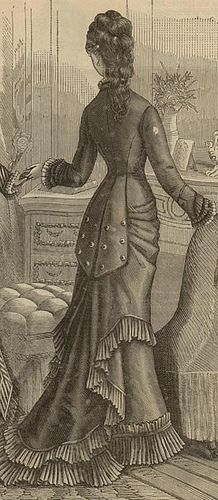 Victorian bustle gown rear by emcadorette Victorian Gown, Victorian Costume, Neo Victorian, Victorian Steampunk, Edwardian Era, 1870s Fashion, Edwardian Fashion, Vintage Fashion, French Fashion