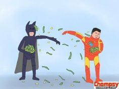 Funny Pictures The ultimate battle between Batman and Iron Man