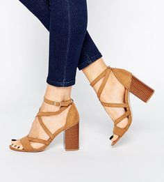 9651117b90c New Look Strappy Block Heeled Sandal at asos.com