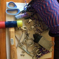 A few items that are needed to create a paracord horse tack set.  The hard part is to pick a color, once that is done. Gather your hardware and go to work. Sit back relax and work the magic. I love working with paracord.  Creations in progress  Fun