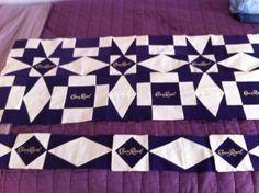 Crown Royal quilt in progress....Not yours KW... but very nice!!!