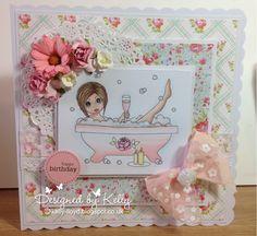 Kelly's Cards: Bathtime Emma