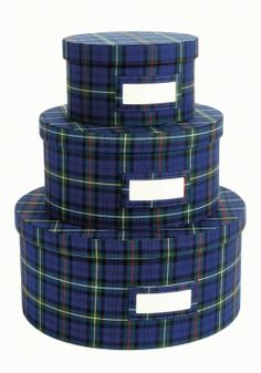 Christmas ornament storage idea- Adam Glassman shares his favorite plaid-patterned home and fashion pieces in O, The Oprah Magazine, November Scottish Plaid, Scottish Decor, Christmas Ornament Storage, Ornament Drawing, Tartan Fashion, Tartan Kilt, English Decor, Clothing Boxes, Tartan Fabric