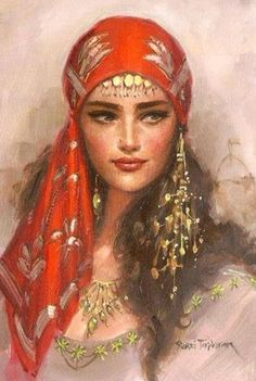 painting of Mahidevran Sultan. Unfortunately the author's name is unknown