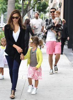 Jessica Alba & family