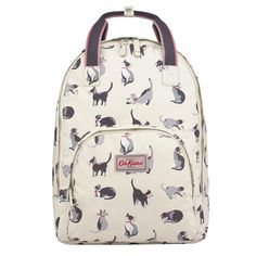 Our bestselling backpack shape updated with our latest pussycat print is a purrfect combination! This rucksack is ideal for work and studies. Cat lovers will adore!