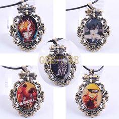 Anime Logo One Piece/ Fairy Tail/Black Butler/ Attack on Titan/ Survey Legion Alloy Bronze Pendant Necklace