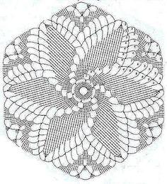 Crocheted motif no. Crochet Motif Patterns, Crochet Diagram, Crochet Chart, Thread Crochet, Filet Crochet, Crochet Designs, Crochet Dreamcatcher, Crochet Mandala, Crochet Flowers