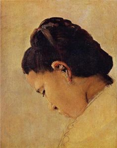 """Georges Seurat, """"Head of a Girl, 1879"""", oil on canvas"""