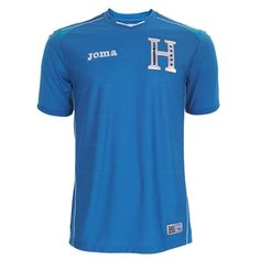 """As Joma's sole representative in Brazil this summer, the Spanish firm has created a new kit design for the Hondurans in Los Catrachos traditional home white and away blue. Both also feature a new """"H"""" badge for the team that has the text """"HONDURAS"""" within it along with the five stars of the Honduras national flag."""